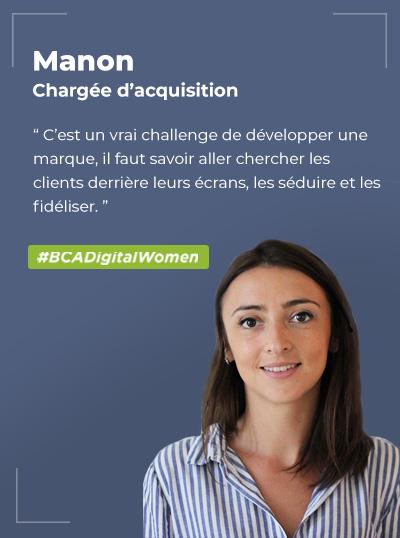 Manon BOITARD, Chargée de marketing digital / acquisition