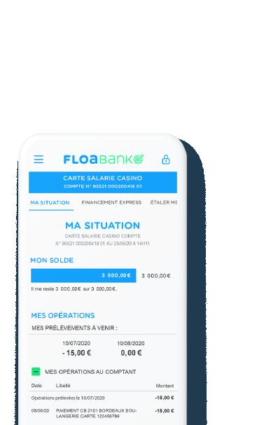 Espace client FLOA Crédits & Cartes